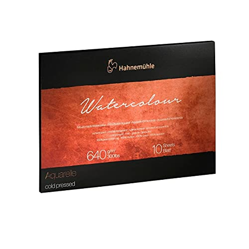 Hahnemuhle Collection Watercolor 300 Block Cold Pressed 11.8x15.7 Inches 300gsm