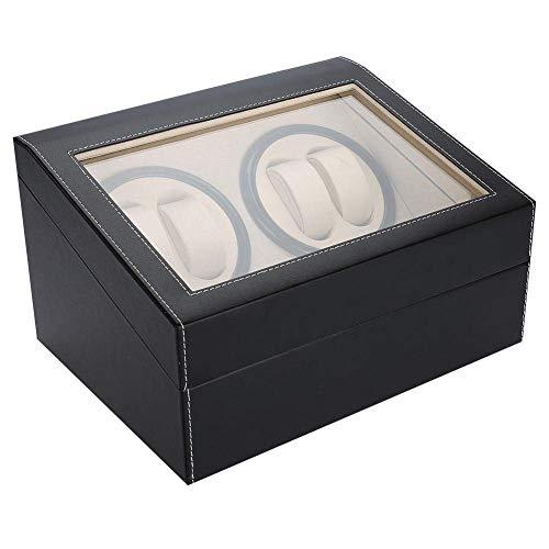 Caja de Almacenamiento de Reloj Caja de Reloj, Reloj automático de Doble Winder con Dos Motores tranquilas con 4 Posiciones Rollo automático Watch Winder