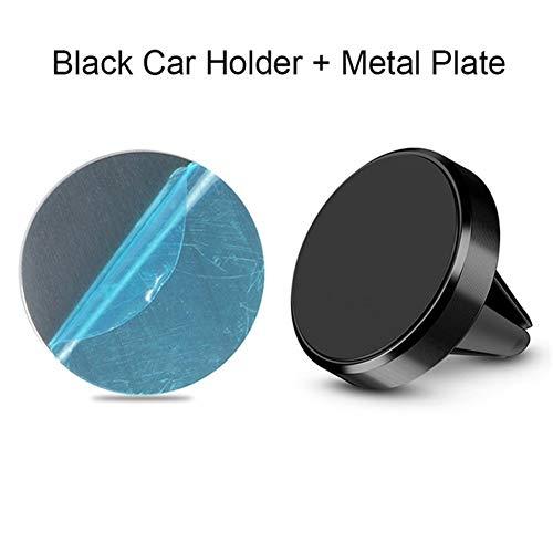 Yubingqin Soporte magnético para teléfono para coche Mini Air Vent Clip Magnet Stand para Xiaomi Note 8 Huawei Samsung en el coche GPS (Color: Negro)