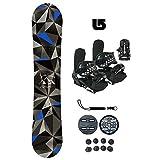 Symbolic Arctic-2 Kids Snowboard & Bindings & Leash & Burton Decal Package (Bindings Black XS (fits 1-6 Kids), 100cm Snowboard)