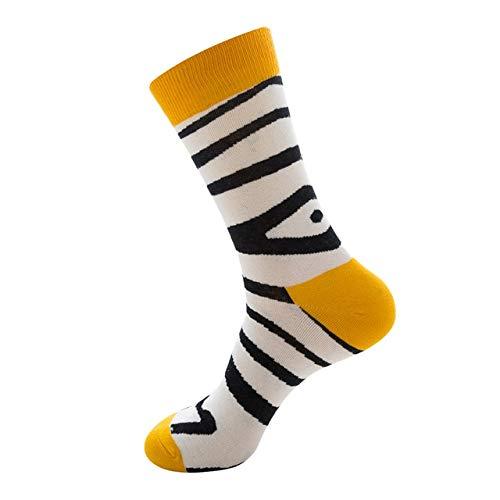 Heliansheng 1 par de Calcetines Casuales de algodón Puro para Mujeres y Hombres, Divertidos Calcetines para monopatín, Calcetines Deportivos Harajuku -10-Talla única