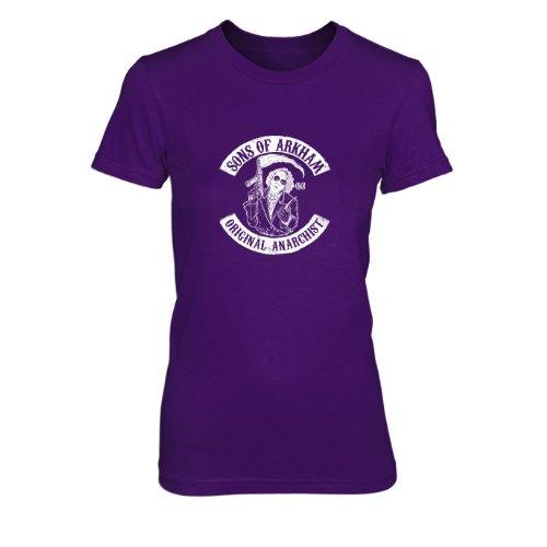 Sons of Arkham - Damen T-Shirt, Größe: S, Farbe: lila