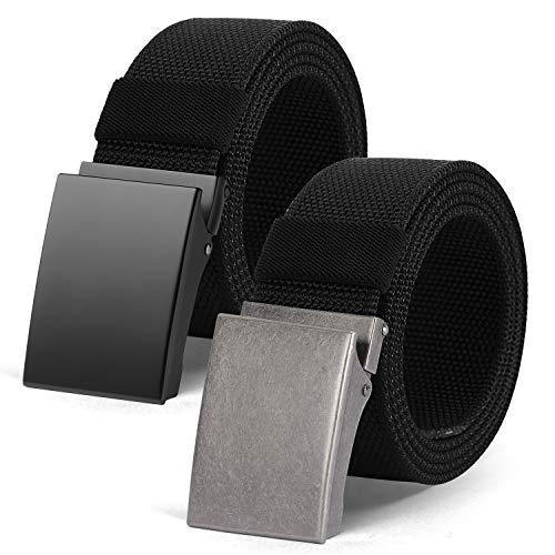 BESTKEE Gürtel Unisex Stoffgürtel Taktischer Gürtel, 3,8cm Breite Nylon Arbeitsgürtel für Damen & Herren Verstellbarer Belts mit Automatischer Gürtelschnallen