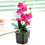 Marjon Flores Artificiales para decoración de Muebles Mini Mariposa orquídea modernSimple Maceta Plantas Set