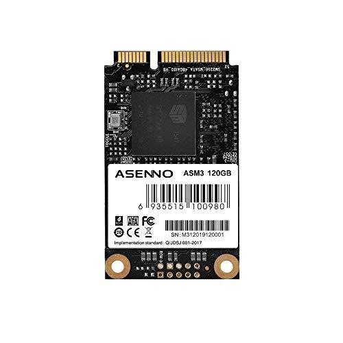 ASENNO SSD MSATA NGFF M.2コンピューター用内蔵SSDソリッドステートドライブ (120GB, MSATA)