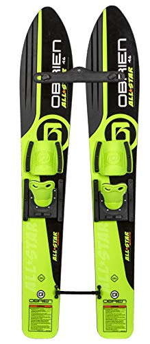 O'Brien Children All-Star Trainers Kids Combo Waterskis, Green, One Size