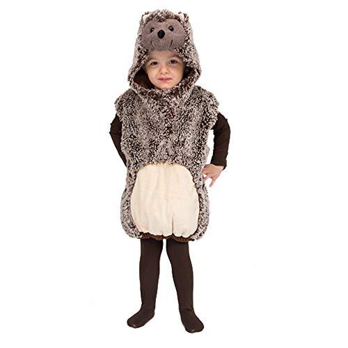 WOOOOZY Kinder-Kostüm Weste Igel, Gr. 104-110