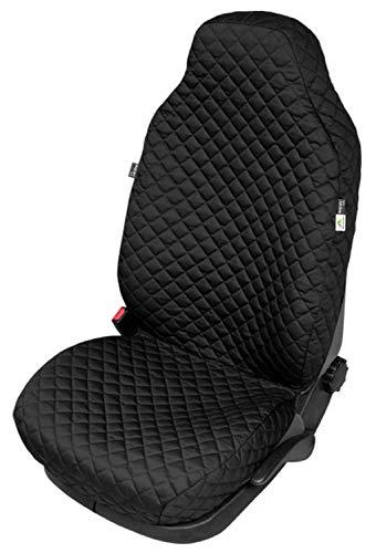 ZentimeX Z4206890 Gesteppter Sitzbezug Sitzschoner Schonbezug Schutzbezug Schutzhülle klimatisierend isolierend schwarz