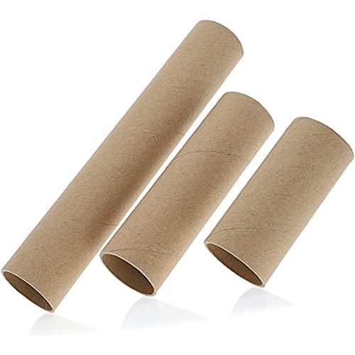 Bright Creations Papprollen (Set, 24 Stück) - Bastelrollen je 8 Stück in 3 verschiedenen Größen - Zum Versand, Verpacken, Dekorieren, Modellbau - Karton, Braun, Länge 10,2 cm, 15,2 cm, 25,4 cm