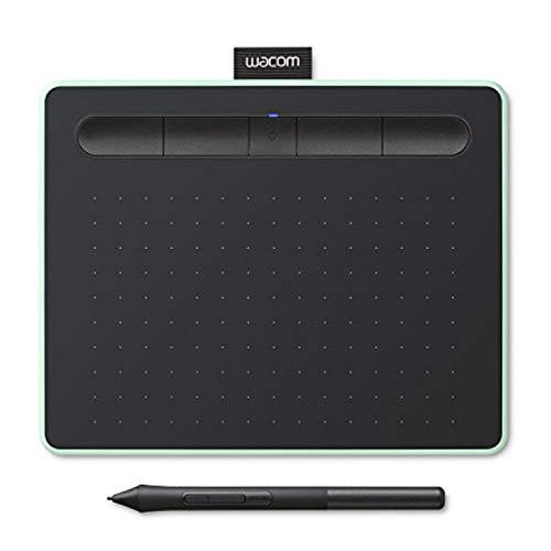 Wacom Intuos S 2540líneas por Pulgada 152 x 95mm USB/Bluetooth Negro, Verde Tableta digitalizadora Intuos Intuos S, Inalámbrico y alámbrico, 152 x 95 mm, USB/Bluetooth, 7 mm, Pluma, 0,25 mm