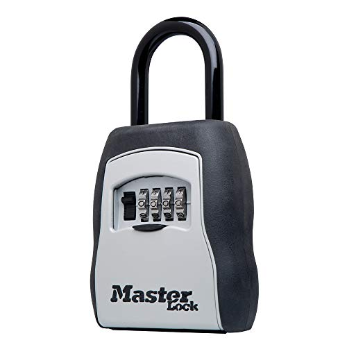 Master Lock 5400D Set Your Own Combination Portable Lock Box, 5 Key Capacity, Black