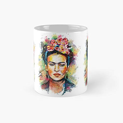 Frida Kahlo Colourful Portrait Classic Mug - 11 Ounce For Coffee, Tea, Chocolate Or Latte.