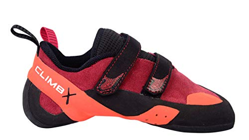Climb X Red Point NLV Women's Climbing Shoe 2019 (Women's 8/ Men's 6.5, Red)