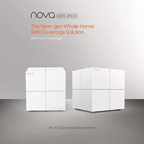 Tenda Nova MW6 WiFi Mesh, Dual Band AC1200 con Copertura Fino a 350㎡, 2 Porte Gigabit Ethernet, Modalità Router e Access Point, Parental Control, Confezione da 2 Pezzi