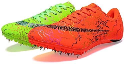 HYISHION Zapatillas de Cross Zapatilla de Correr con Clavos Zapatilla de Correr con Clavos para Hombres/Mujeres