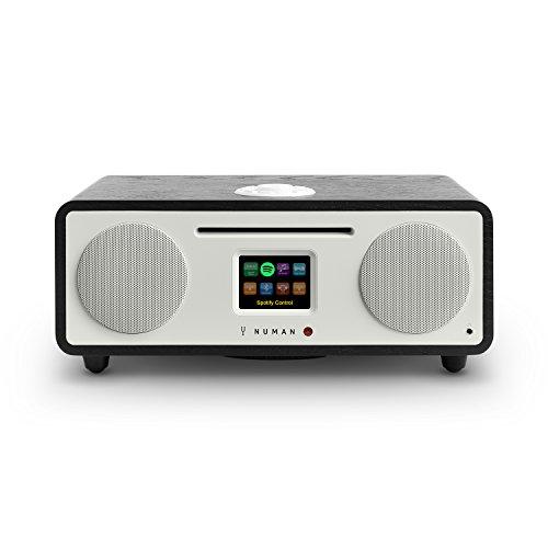 Numan Two 2.1 - Radio por Internet , Sintonizador Dab / Dab+ y FM , Spotify Connect , Reproductor CD , Pantalla TFT , WiFi / LAN , Bluetooth , AUX , 2 Altavoces de Banda Ancha , Subwoofer , Negro