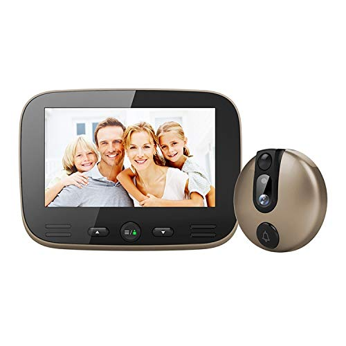 Video deur-draadloze deurbel-deurbel-kit M100 4,3-inch scherm scherm 2,0 MP bewakingscamera video smart-deurbel, ondersteuning TF-kaart (32 GB max) & Nightvision & Motiondetection 2020 nieuw Champagne goud