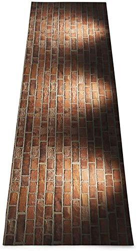 Toalla De Yoga Antideslizante,Brick Wall Printing Eco-Friendly Fitness Exercise Mat,Tapetes De Meditación,Ejercicios De Piso Impresos &Tapete Fitness Mat Para Mujer 183×61cm