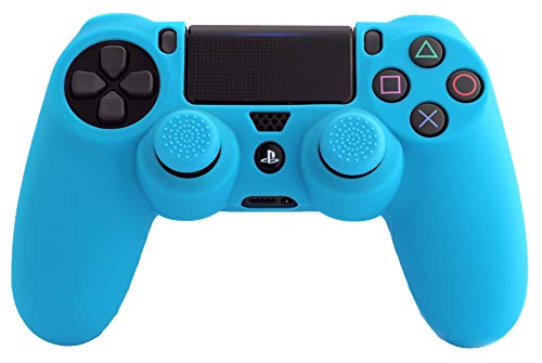 FR·TEC -  Silicone Sleeve + Grips, Color Azul- PS4