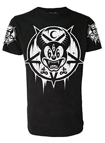 Darkside, Mickey 666 T-Shirt für Herren, Größe: X Large (44 inch Chest)