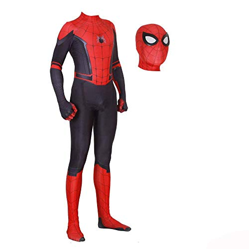 JUFENG Nouveau Adultes Enfants Spider-Man 2019 Halloween Costume Combinaison 3D Imprimer Spandex Lycra Spiderman - Body Costume,C-Adult/L