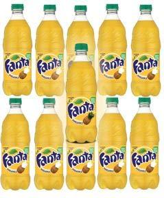 Fanta Pineapple 20 oz pack of 10  total of 200 FL OZ