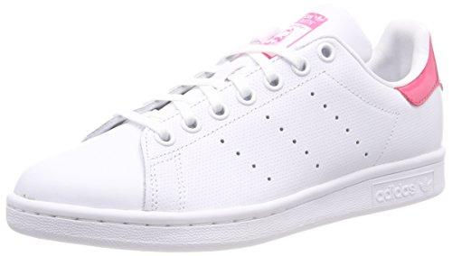 adidas Unisex-Erwachsene Stan Smith Sneaker, Weiß (Ftwr White/Ftwr White/Real Pink), 36 2/3 EU