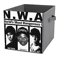 N.W.A Ice Cube MC Ren DJ Yella Dr. Dre 折りたたみ収納ボックス折りたたみかご持ち手付きの立方体収納ボックスには、本、おもちゃ、衣類、タオル、靴下などを収納できます