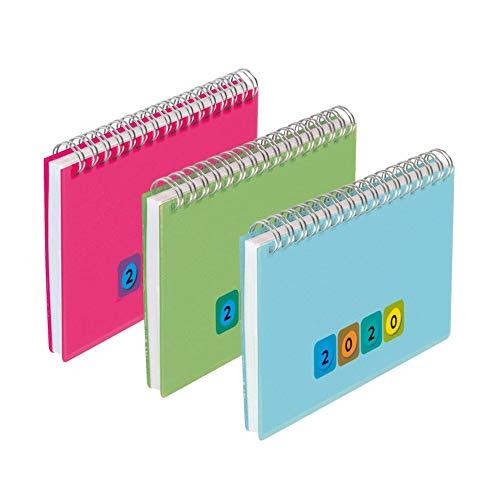 Herlitz 50023356 Tischkalender Mini Protect 2020 (Sortiert, 1 Stück)