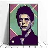 Lou Reed Velvet Underground Music Poster Hip Hop Rap Music Band Star Poster Wall Art Painting Room Home Decor Canvas Print -40x60 No Frame