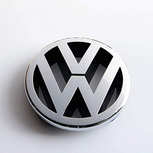 Recambios Originales Volkswagen Emblema parrilla delantera 130mm (GOLF 5, Caddy, EOS, Jetta, Polo, Touran)