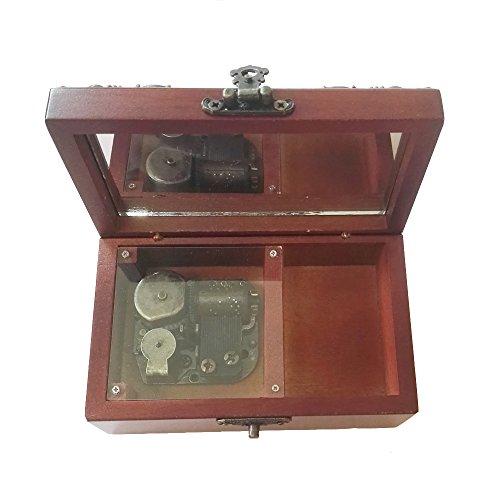 Caja musical de madera con 18 notas de encaje, caja de música de almacenamiento con Always With Me de El viaje de Chihiro