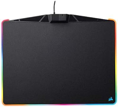 Corsair MM800 RGB Polaris Hard Surface Mousepad (15 Zone RGB Lighting, Low Friction Micro-Textured Surface, Built-In USB Pass-through Port, 400 x 340 x 35 mm) - Black