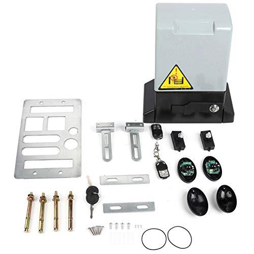 2000KG Kit de abridor automático de puerta corredera Motor de puerta corredera accionado por bastidor de alta resistencia para puertas correderas (barco sin batería)(Door opener)