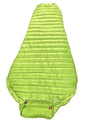 AEGISMAX Outdoor Urltra-Light Goose Down Sleeping Bag Three-Season Down Sleeping Bag Mummy Down Sleeping Bag Green