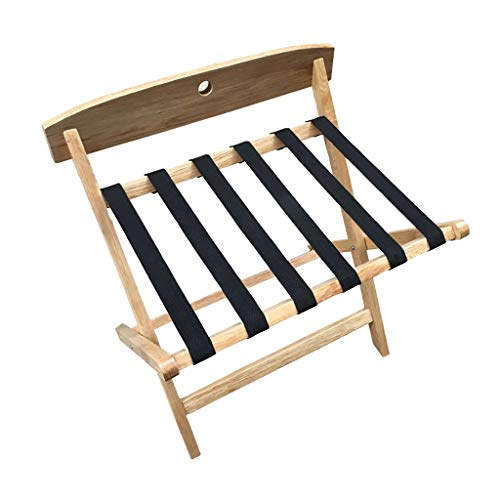 Review Of GDXLJ Folding Luggage Rack Folding Luggage Rack Solid Wood Hotel Suitcase Holder Travel Ba...