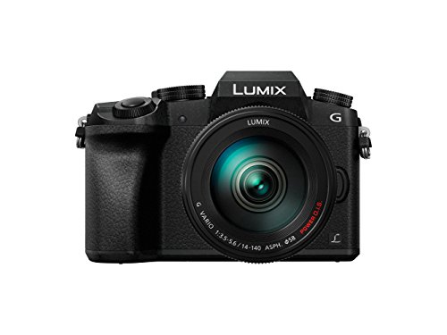 Panasonic Lumix DMC-G7H Kamera Mirrorless Digital mit Objektiv Standard Zoom Lumix G Vario 14 – 140 mm H-FS14140, Foto und Video 4 K, WLAN, Schwarz