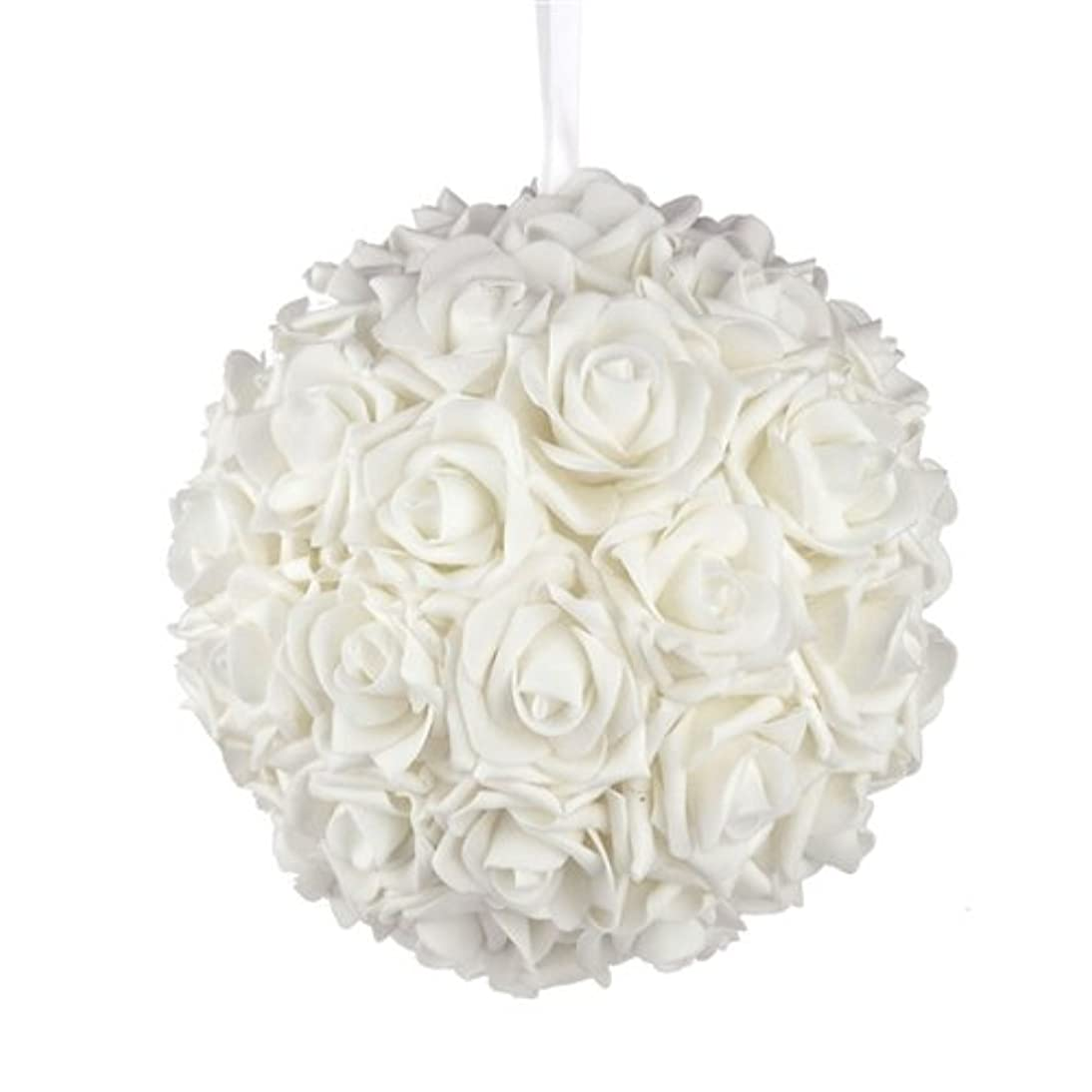 Homeford Firefly Imports Soft Touch Foam Kissing Ball Wedding Centerpiece, 10-Inch, White,