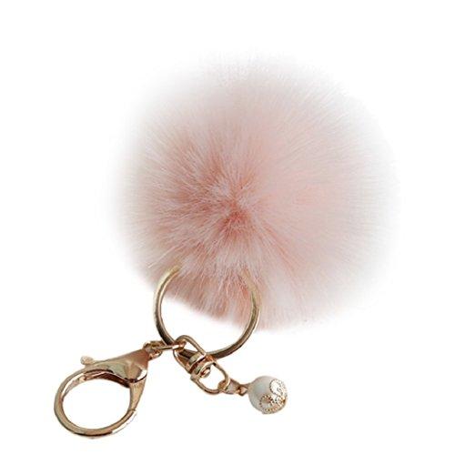 Culater® Kreative Plüsch Ball Schlüsselanhänger Tasche Auto Schlüsselanhänger (Rosa)