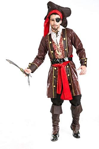 MOLINGXUAN Halloween-Kostüm, Cosplay Männer Fluch der Karibik Kostüm-Halloween-Teufel-Kostüm Kostüme Transvestismus Partei Fotografie Foto-Kostüm