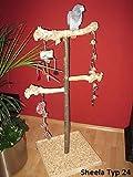Kletterbaum für Vögel, Papageien Freisitz aus Holz Papageienspielzeug Papageien-Freisitz 1,40