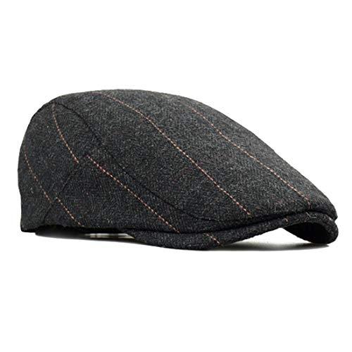besbomig Newsboy Casquillo Plano Sombreros Boinas Flat Cap para Hombre - Wool...