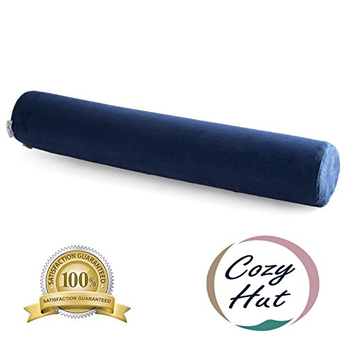 Comfort Memory Foam Neck Roll Pillow Lightweight Round Cervical Support Pillow for Spine and Neck Back Support 24X4 in.