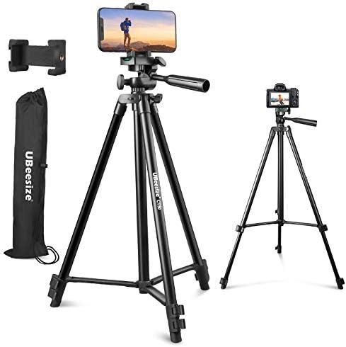 UBeesize 50 Phone Tripod Stand Aluminum Lightweight Tripod for Camera and Phone Cell Phone Tripod product image