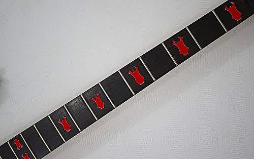 Fret Markers Warlock Inlays Sticker Vinyl Von Gitarre & Bass ... (rot)