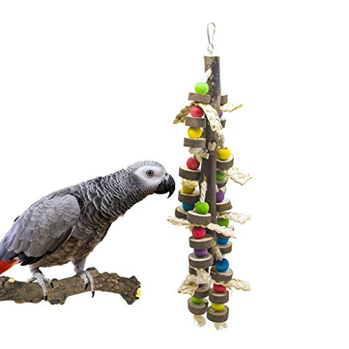 SHANTU Wood Bird Chewing Toys-Blocks Parrot Tearing Toys Best for Finch,Budgie,Parakeets,Cockatiels, Conures,Love Birds and Amazon Parrots