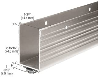 Aluminum Finish Wrap Around Door Shoe and Kick Plate with Vinyl Weatherseal for 42
