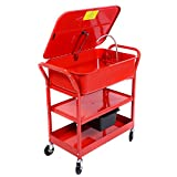 Goplus 20 Gallon Mobile Parts Washer Cart Electric Solvent Pump Cleaner