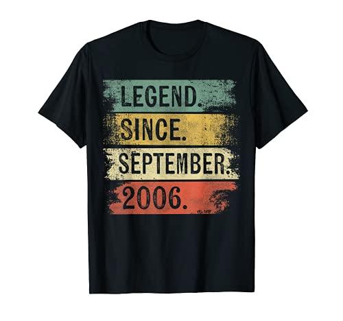 Leyenda desde septiembre de 2006 13 cumpleaños regalos 13 años Camiseta