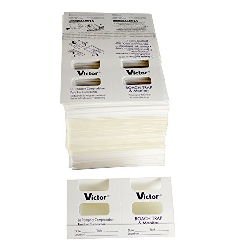 victor insect traps Safer M327 Monitor Victor Roach Glue Trap, White (Pack of 150)